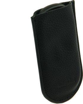 adorini czarny skórzany pokrowiec - obcinacz z podwójnym ostrzem