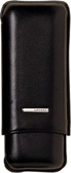 Lecerf Cigar Case Leather black for 2 Robusto
