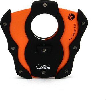 Obcinarka do cygar Colibri  'Cut ' czarno - pomarańczowa