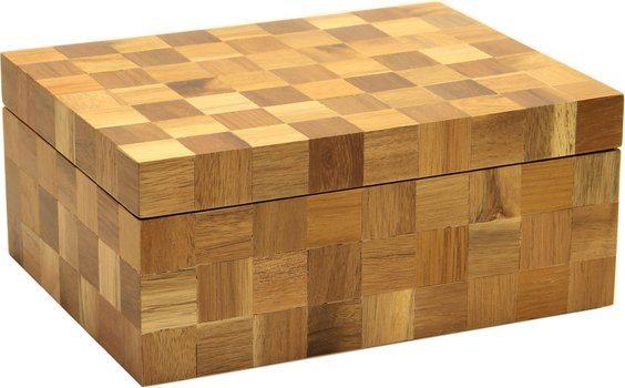Humidor Wood Checkered