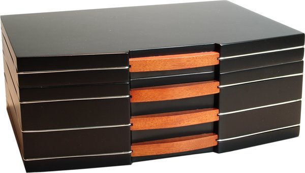 Humidor Black Finish Frosted