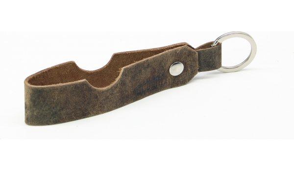 Skórzany brelok do kluczy adorini z oparciem na cygaro i fajkę