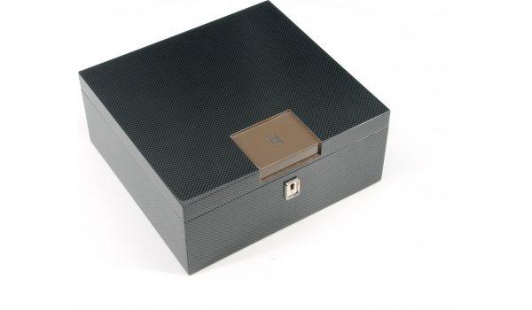 HF Barcelona B Smart stacjonarny humidor brązowy karbon