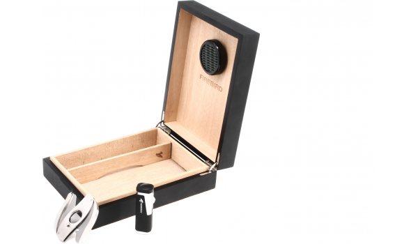 Colibri Firebird Humidor-Set - for 20 cigars - black/matte