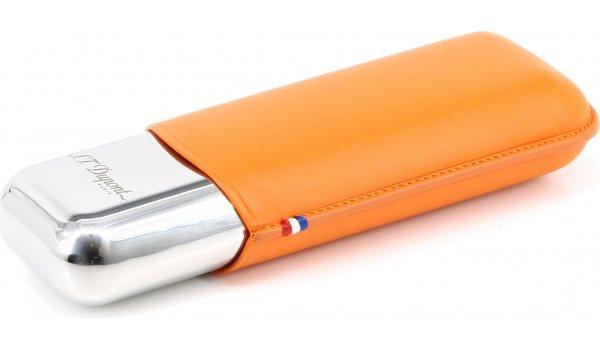 ST Dupont Metalowe podwójne etui na cygara pomarańczowe