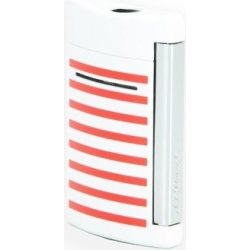 S.T. Dupont Minijet Zapalniczka Paski Granat/Biały/Czerwony