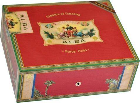 Elie Bleu Flor De Alba 75-Cigar Humidor Red