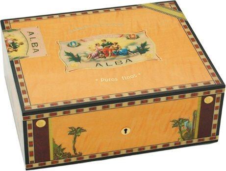 Elie Bleu Flor De Alba 75-Cigar Humidor Yellow