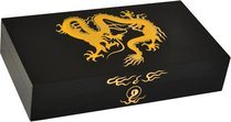 Elie Bleu Golden Dragon Humidor Black