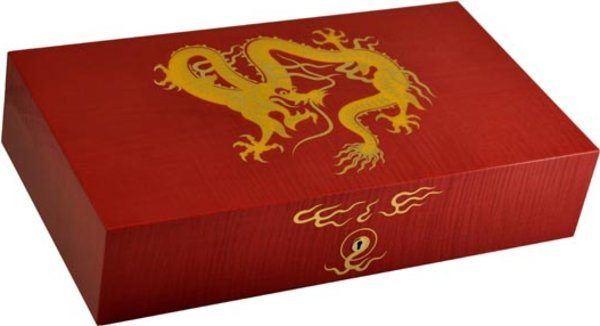 Elie Bleu Golden Dragon Humidor Red