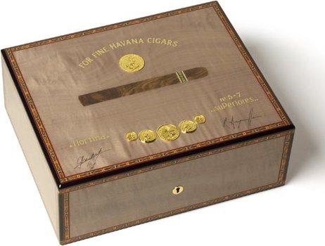 Elie Bleu Grey Medal 75-Cigar Humidor