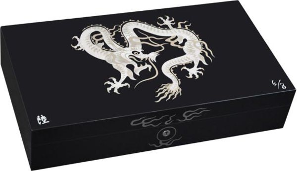 Elie Bleu Mother-of-Pearl Dragon Limited Edition Humidor Black