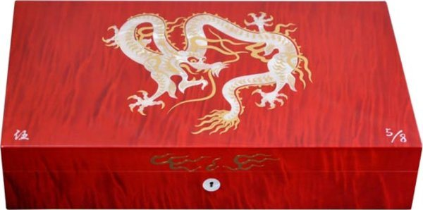 Elie Bleu Mother-of-Pearl Dragon Limited Edition Humidor Red