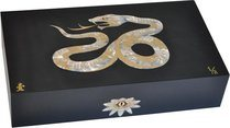 Elie Bleu Mother-of-Pearl Snake Limited Edition Humidor Black (Numbered 1-8)