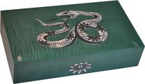 Elie Bleu Mother-of-Pearl Snake Limited Edition Humidor Green (Numbered 1-8)