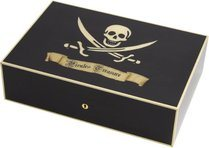 Elie Bleu Pirate's Treasure Humidor Black Sycamore 110 Cigars
