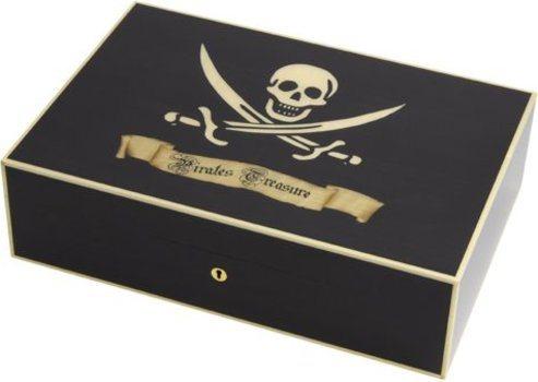 Elie Bleu Pirate's Treasure Humidor Black Sycamore 110 Cigars