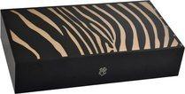 Elie Bleu Safari Zebra Marquetry 110-Cigar Humidor Natural