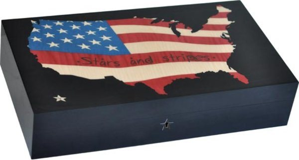 Elie Bleu Stars & Stripes Map 110-Cigar Humidor
