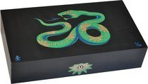 Elie Bleu Sycamore Marquetry Snake Limited Edition Humidor Black (Numbered 1-88)