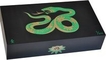 Elie Bleu Sycamore Marquetry Snake Limited Edition Humidor Black (Numbered 1-888)