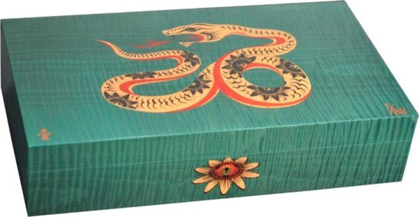 Elie Bleu Sycamore Marquetry Snake Limited Edition Humidor Green (Numbered 1-88)