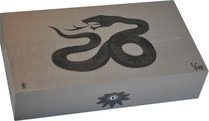 Elie Bleu Sycamore Marquetry Snake Limited Edition Humidor Grey