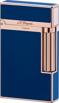 S.T. Dupont Ligne 2 Lighter Blue Chinese Lacquer/Pink Gold