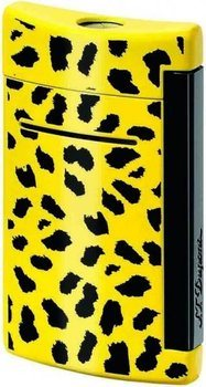S.T. Dupont MiniJet Lighter Leopard Print Yellow/Black