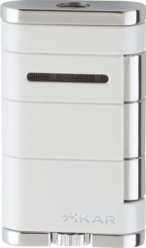 Xikar Allume Single Jet Lighter Alpine White