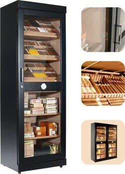 Adorini Roma (czarny) elektroniczny humidor kabinet