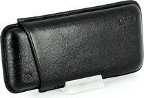 Colibri cigar case leather black 3 Corona