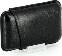 Colibri cigar case leather black 3 Robusto